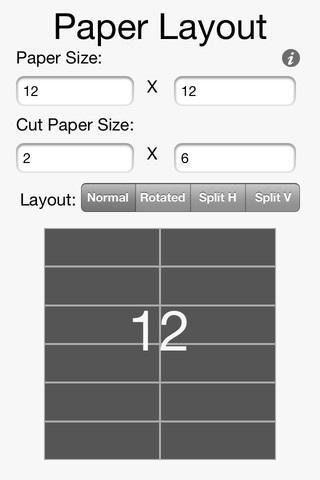 Paper Layout App Screenshot