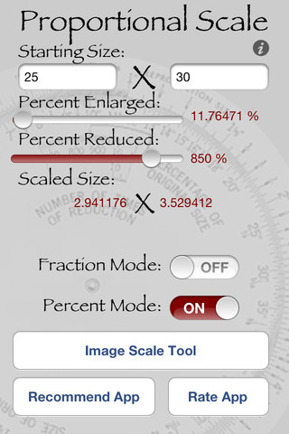 Proportional Scale App Screenshot